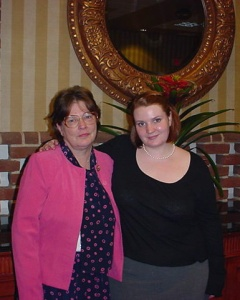 MBHM with mother, Beth, in 2003